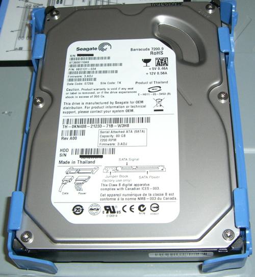 デル PowerEdge SC440ハードディスク