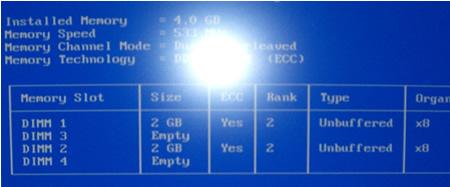 SC440にECCメモリー2GBの2枚挿し